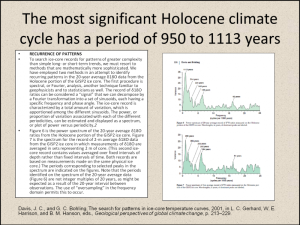 Figure 11. The Holocene climate has been dominated by a millennial scale climate cycle.