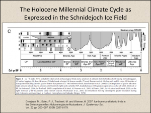 Figure 10. The millennial scale climate cycle can clearly be traced back to the end of the Holocene Climatic Optimum and the onset of the Neoglaciation.