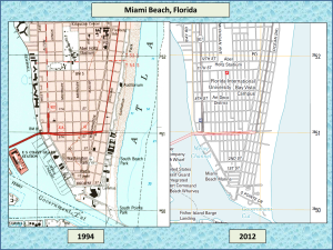 Miami Beach, Florida topographic maps for 1994 and 2012. The 2012 map has no 5' contour because it has a 10' contour interval. However, it is abundantly obvious that Florida is not being inundated.