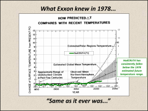 In 1978, Exxon knew that the models were useless.